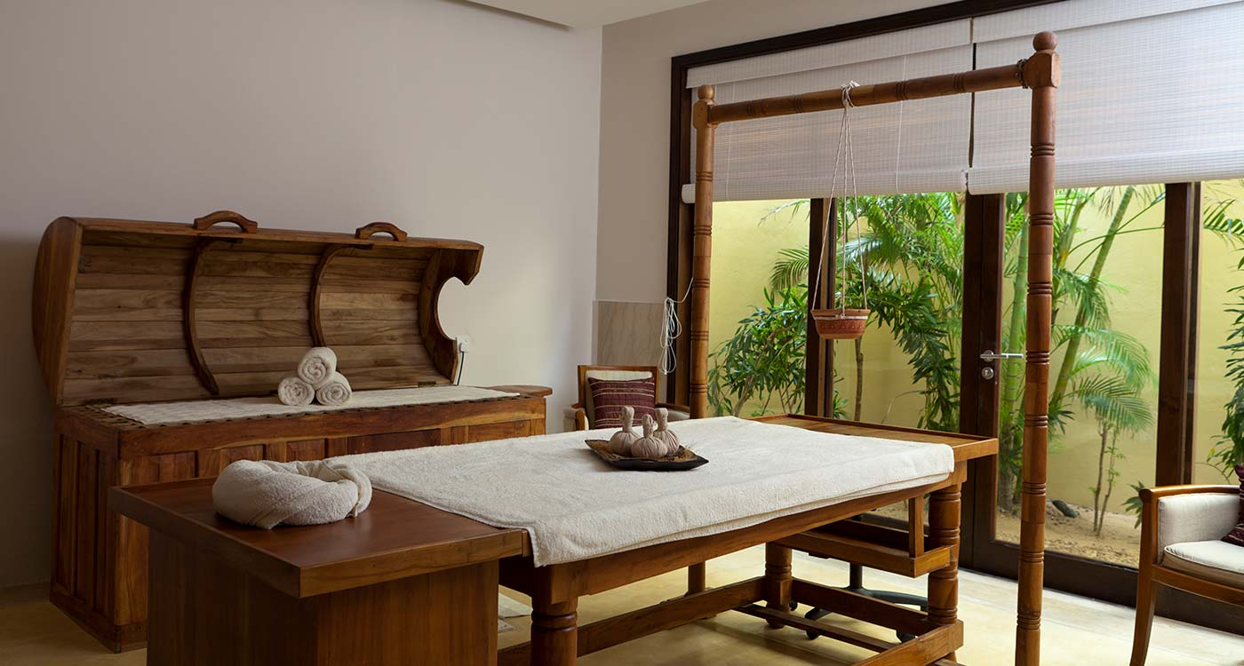 Inside the Ayurvedic Spa Room of The Fortress Resort And Spa