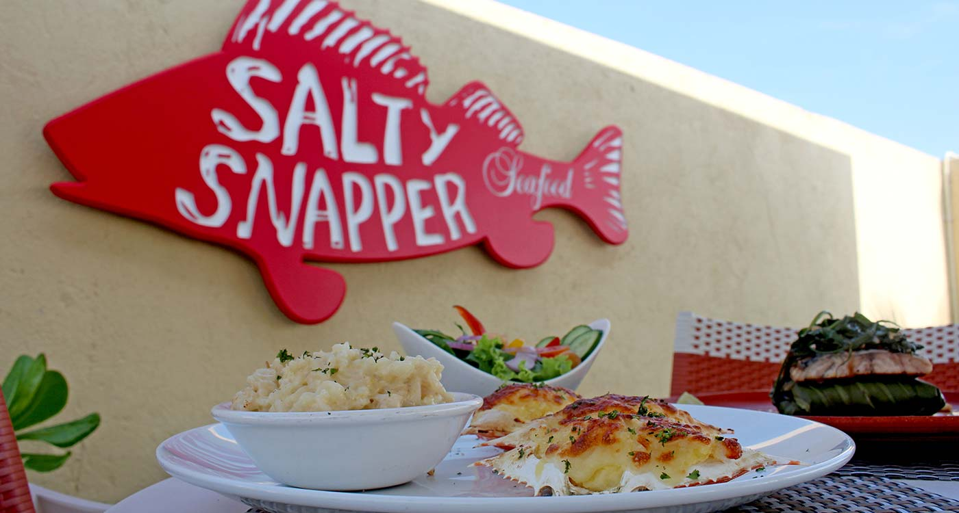 Sea Food Dishes at The Fortress Resort and Spa Salty Snapper Restaurant