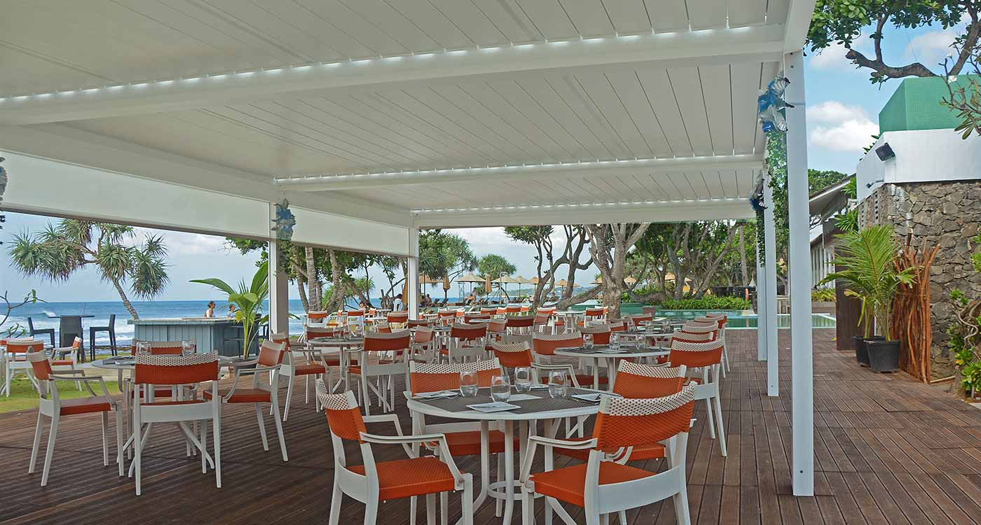 Dining Area of the Salty Snapper Outdoor Restaurant