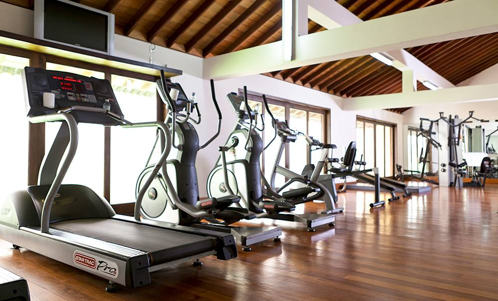 Inside the Fitness Centre at The Fortress Resort And Spa