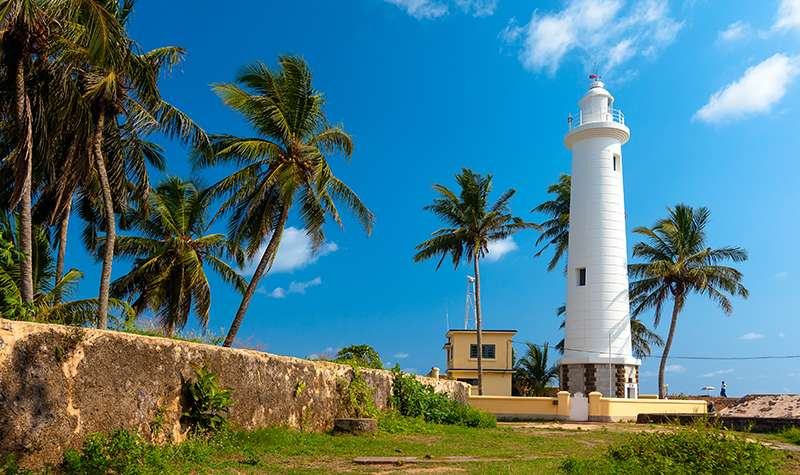 Galle Fort Lighthouse In Afternoon