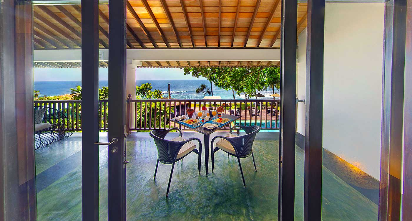 The Balcony of Ocean Room at The Fortress Resort & Spa