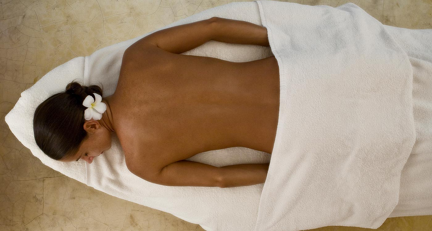 A Woman Getting Ready For A Spa Treatment