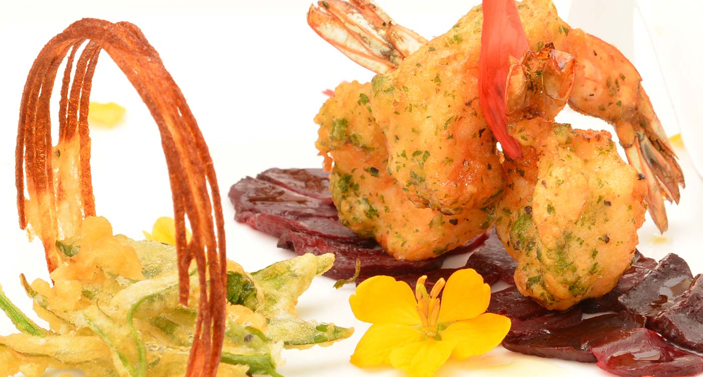 A Prawn Dish at The Fortress Resort And Spa