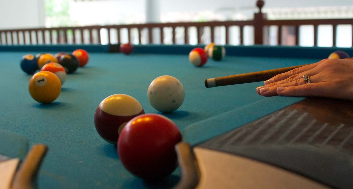 T-Lounge Pool Table at The Fortress Resort & Spa
